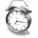bell, Alarm, time, hours, Clock Black icon