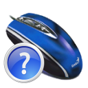 Mouse, questionmark, help RoyalBlue icon