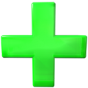 green, Add, plus LimeGreen icon