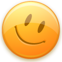 Emoticon, smiley, good, happy Khaki icon