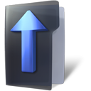 Folder, Arrow, Up DarkSlateGray icon
