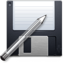 Floppy, save as, Disk, save, write, Pen DarkSlateGray icon