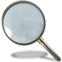 magnifying glass, search, zoom, Find DimGray icon