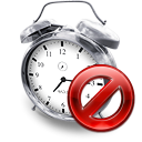 Kalarm, Clock, Disabled Black icon
