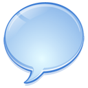 Message, Chat, talk, speech, Bubble, Comment LightBlue icon