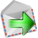 mail, Forward LightGray icon