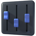 Mixer, volume, player Icon