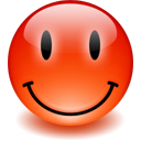 red, smiley, happy OrangeRed icon