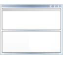 view, Bottom, Top, window DarkGray icon