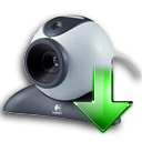 Arrow, Down, Webcam Icon