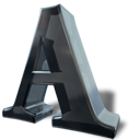 A, Font, Letter DarkGray icon