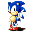 Computer game, sonic, nintendo gamecube MediumBlue icon