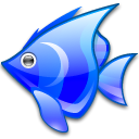 Animal, Blue, fish Black icon