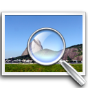 view, zoom CornflowerBlue icon