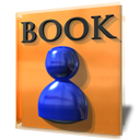 Book, Kaddressbook, education, student SandyBrown icon