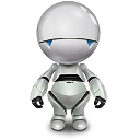 Automator, robot, marvin WhiteSmoke icon