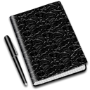 diary, Book, Notebook Black icon