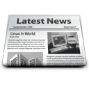 old media, Newspaper, News, Latest news DarkGray icon