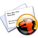 mozilla, mail Black icon
