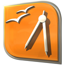 Openofficeorg-draw DarkOrange icon