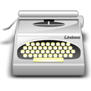 typewriter, wordprocessing DarkGray icon