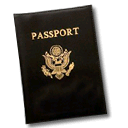 passport, document, password Black icon