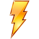 lightning, quick, restart, Bolt, power SaddleBrown icon