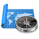 Map, compass, exploration, navigation, sailing, world, Atlas DodgerBlue icon