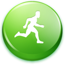 green, Man, Running ForestGreen icon