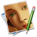 Pen, picture, image, Face SaddleBrown icon