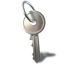 Lock, Key, password DarkGray icon