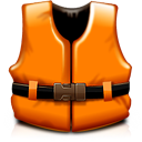 help, Orange, rescue, support, life vest DarkOrange icon