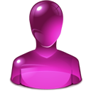 pink, user Purple icon