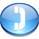 phone SkyBlue icon