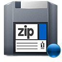 Zip, mount DarkSlateGray icon