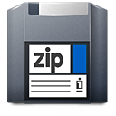 Zip, Disk, unmount DarkSlateGray icon