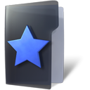Folder, Favorite, star DarkSlateGray icon