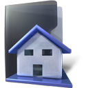Folder, house, Home DarkSlateGray icon