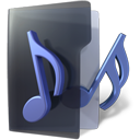 Folder, music DarkSlateGray icon
