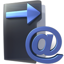 outbox, Email, Folder DarkSlateGray icon