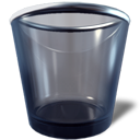 Empty, trashcan DarkSlateGray icon