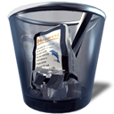 Full, trashcan DarkSlateGray icon