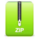 Zip YellowGreen icon