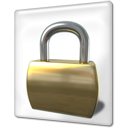 Lock, File DarkOliveGreen icon