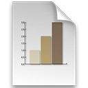 File, graph, Log, document WhiteSmoke icon