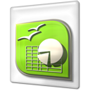 File, open office, Ooo, Calc GreenYellow icon