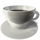 food, cup, Java, Coffee Silver icon