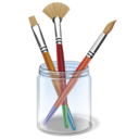 Color, paint, Design, Draw, Drawing, Brush Black icon
