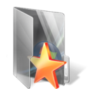 star, bookmark, Folder Black icon
