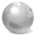 world, earth, internet DarkGray icon